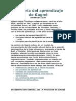La teoría del aprendizaje de Gagné
