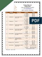 List Harga Produk Tofuu 2013