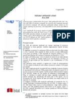 Istat Relazione Ambiente e Territorio 11 Agosto 2009