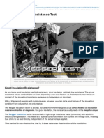 Electrical Engineering Portal.com Megger Insulation Resistance Test
