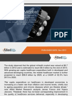 Allied Market Research mHealth Market (Devices, Applications, Services & Therapeutics) - Global Mobile Healthcare Industry Size, Analysis, Share, Growth, Trends and Forecast, 2012 - 2020