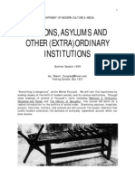 Prisons, Asylums, and Other (Extra)Ordinary Institutions