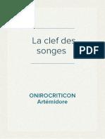 Artémidore ONIROCRITICON