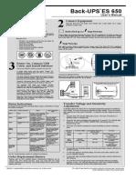 APC ES-650 UPS Manual