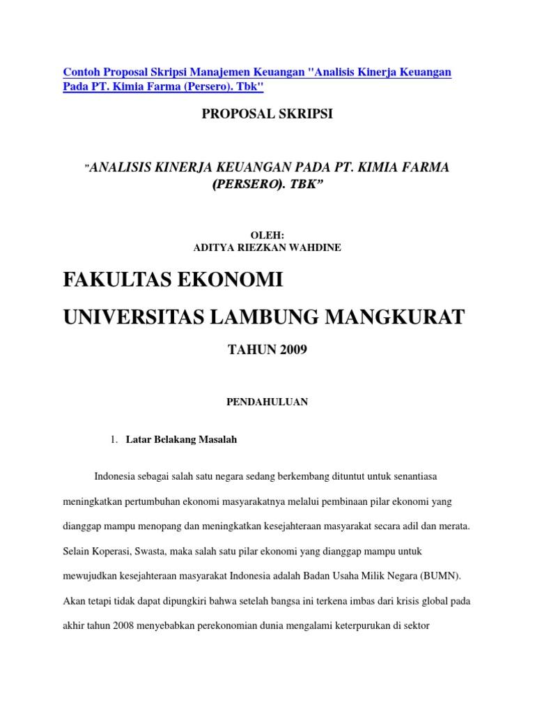 Skripsi Manajemen Keuangan 2018 Pdf Pejuang Skripsi