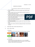 Lesson Plan in Music 8 - Indian Music