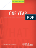 Kellogg One Year MBA Brochure 2012 2013