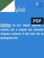 Unit 4alkaloids