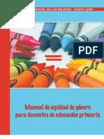 Manual de equidad de género para docentes de educación primaria