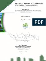Rekapitulasi Penyelesaian RTRW Provinsi/Kabupaten/Kota Seluruh Indonesia Per November 2013