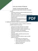 CLASIFICACIÓN DE LAS AYUDAS TÉCNICAS