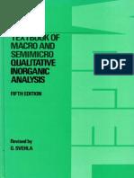 Vogel Qualitative Inorganic Analysis 5thed