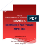Lecture No. 05_Determinants of Asset Prices and Interest Rates