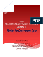 Lecture No. 08 Markert for Government Debt