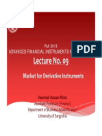 Lecture No. 09 Market for Deriviative Instruments