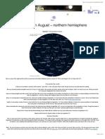 Night Sky Map in August 2013 - Northern Hemisphere - Skymania News