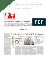La Prelios di Caputi negozia la cessione di 18.000 case in Germania - Massimo Caputi Prelios