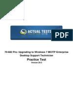 70-682 - Actual Test