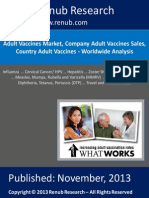 Worldwide - Adult Vaccine Market Share Analysis & Forecast