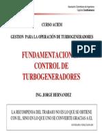 Fundamentacion en Control de Turbogeneradores