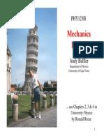 PHY1023H Buffler Mechanics A