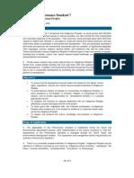 IFC's Performance Standard 7