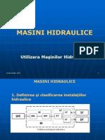 Curs 1 MASINI HIDRAULICE