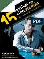 Folleto cine Aleman en madrid