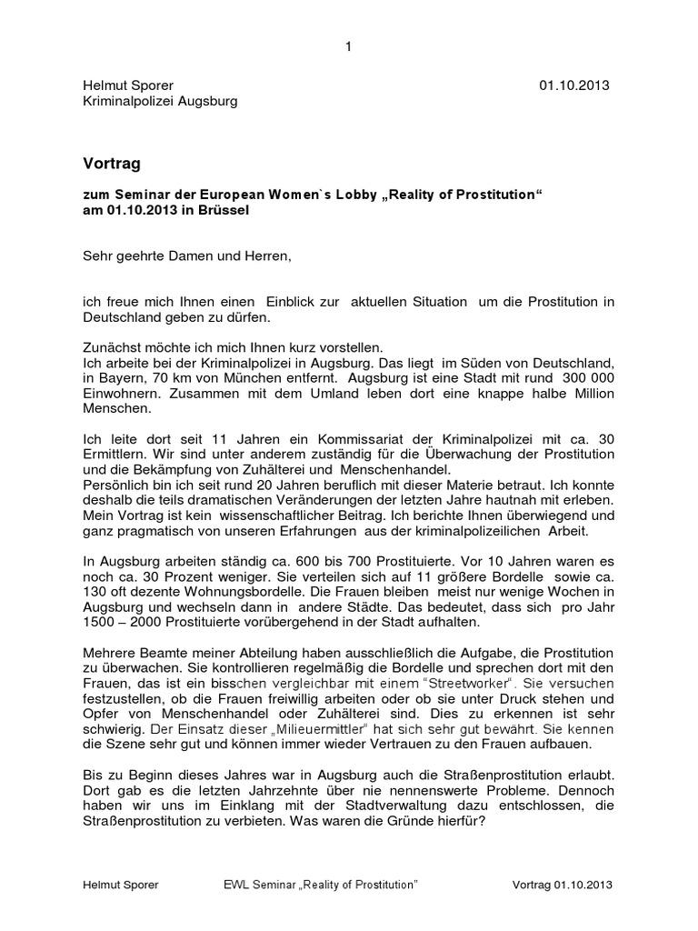 Prostitution augsburg Data on