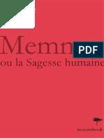 Memnon Ou La Sagesse Humaine