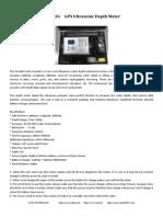 GE-103G Portable GPS Ultrasonic Depth  Meter