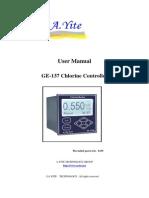 User Manual of GE-137 Residual Chlorine Analyzer Monitor