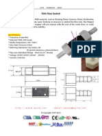 GE-312c FDA flow switch with barbed fitting