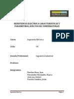 Resistencia Electrica Caracteristicas y Parametros