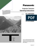 Panasonic TX51P250 43P250 Manual