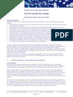 2009 the EU Market for Mango
