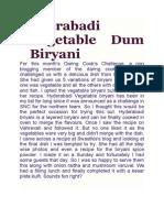 Hyderabadi Vegetable Dum Biryani