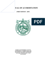 Pakistan Engineering Accreditation Document for Engineering Universities