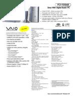 Sony Pcv - Rx84m