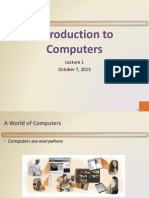 Intro to computer Lecture 1