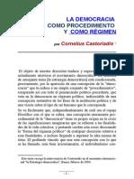 Castoriadis La Democracia Como Procedimiento y Como Regimen