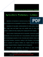 Agriculture Preliminary Syllabus