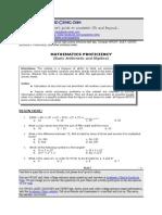 Math Module for UPCAT