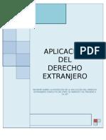 INFORME D.I.Pri. (APLICACIÓN DEL DERECHOEXTRANERO)