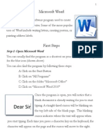 Lesson 3 Microsoft Word