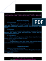 geography preliminary syllabus