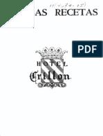 Famosas Recetas Hotel Crillon