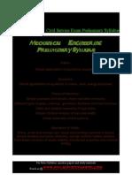 mechanical engineering preliminary syllabus