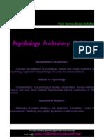 pschyology preliminary syllabus