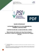 Licitación Pública Nº 013-2013-MINAGRI-PSI